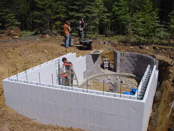 Строительство дома из пеноблоков с чего начать